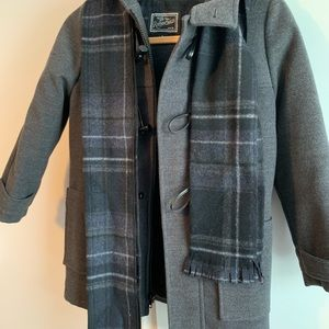 Boys Rothschilds Toggle Coat-  GREY. With scarf